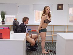 Naughty boss getting fucked by her assistant