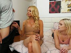 Turned on nicely shaped auburn Briana Banks wanna be poked well (FFM)