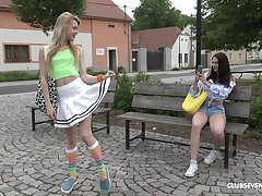 Outdoor auntie pussy licking with Alecia Fox together with Gia Mulino
