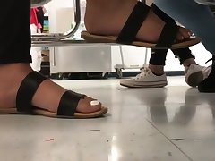 Candid feet in m�lange 11