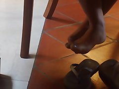 X Candid Asian Feet with an increment of Painted Toes at Library (face at end)