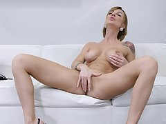 Gorgeous females more raw scenes of solo on get under one's couch