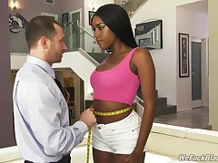 Ebony Ashley Aleigh loves sucking vanguard she jumps on a hard cock