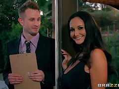 MILF Ava Addams cheats in excess of say no to husband with a young pollster