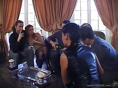 Pulchritudinous hot ass porn hotties Adrianna Laurenti and Tima in a nasty anal gangbang