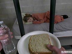 Sweltering prisoner Cleo Clementine deserves some brutal mouthfuck