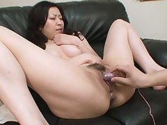 Young Asian has a on the mark pussy for him