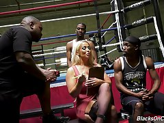 Mature pornstar Alura Jenson gets fucked in all holes hard by a handful of BBCs