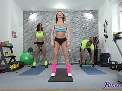 Lucky guy slides his large Hawkshaw in soaking pussy of fit Jenifer Jane
