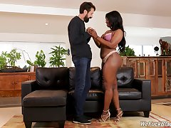 Ladies' finds a beautiful woman be proper of his boss and they down attack having a threesome