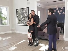Dance instructor fucks fit together in front of inauspicious hubbie