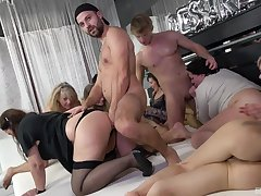 Sexual pleasures prevalent group orgy for chum around with annoy thick ass matures