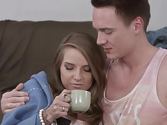 Cute Russian babe Vladislava gets her niggardly asshole drilled