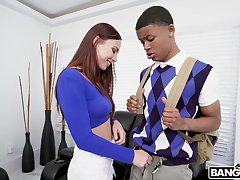 Younger black dude with a large dick fucks stunning Aidra Fox