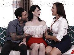 Kinky wife Dana DeArmond shares her bloke with sexy Alex Harper