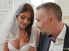 Stepdad fucks bride stepdaughter Adria Rae in anus and deep throat