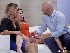 Pure Indulgence with Mercedes Carrera or hot threesome coition with married couple